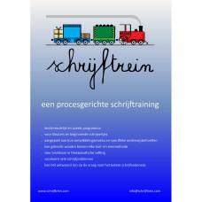 Poster Schrijftrein